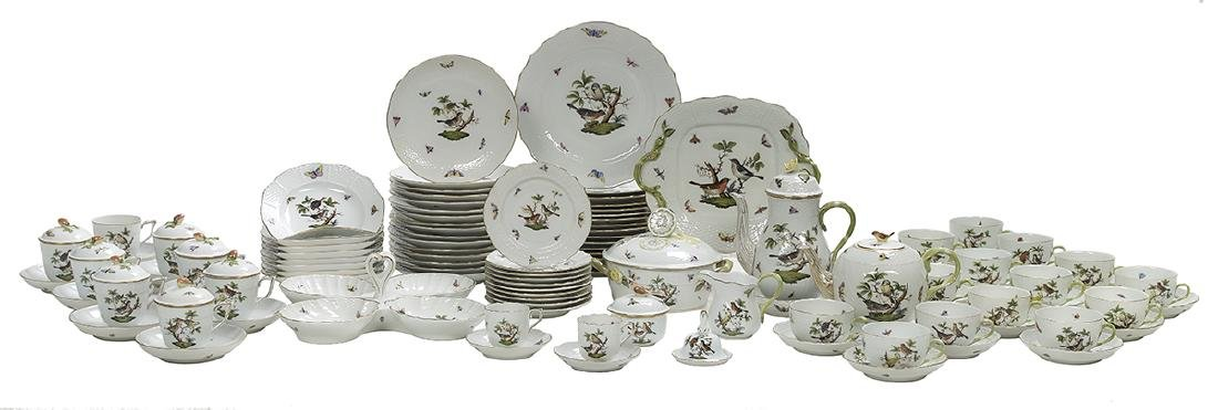 "Herend ""Rothschild Bird"" Dinner Service"