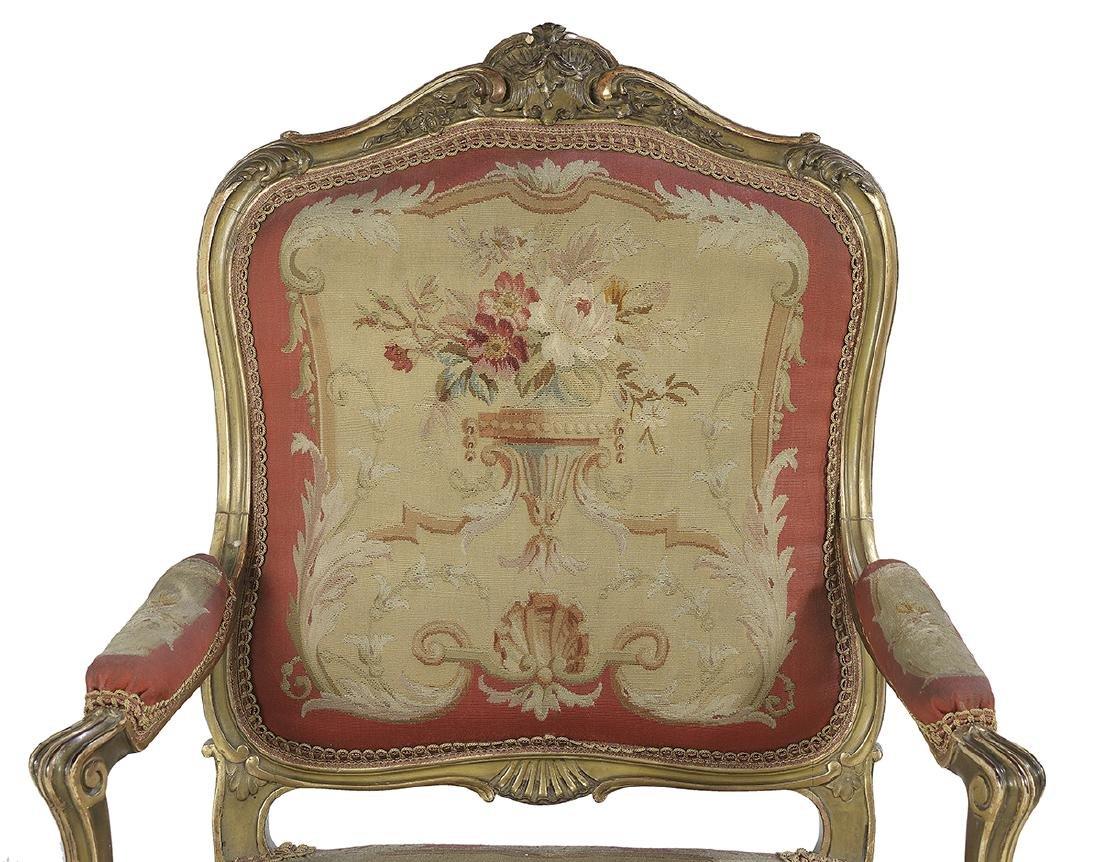 Six-Piece Louis XV-Style Giltwood Salon Suite - 2