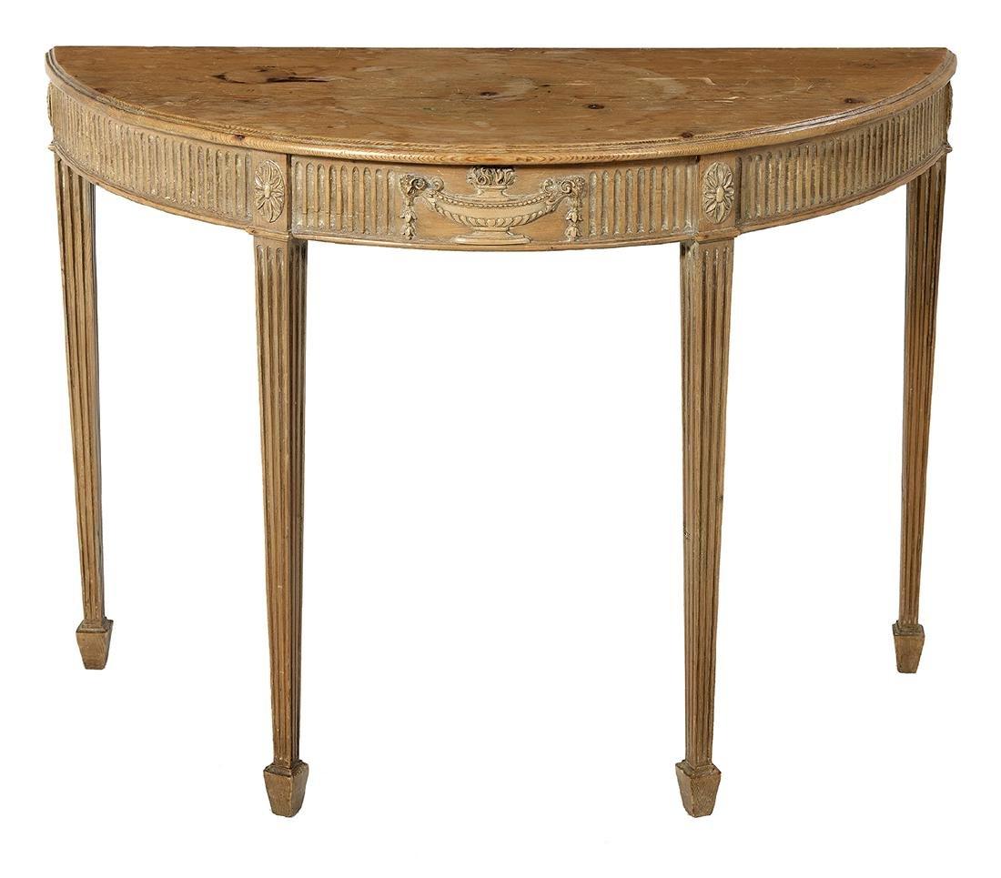Robert Adam-Style Pine Console Table