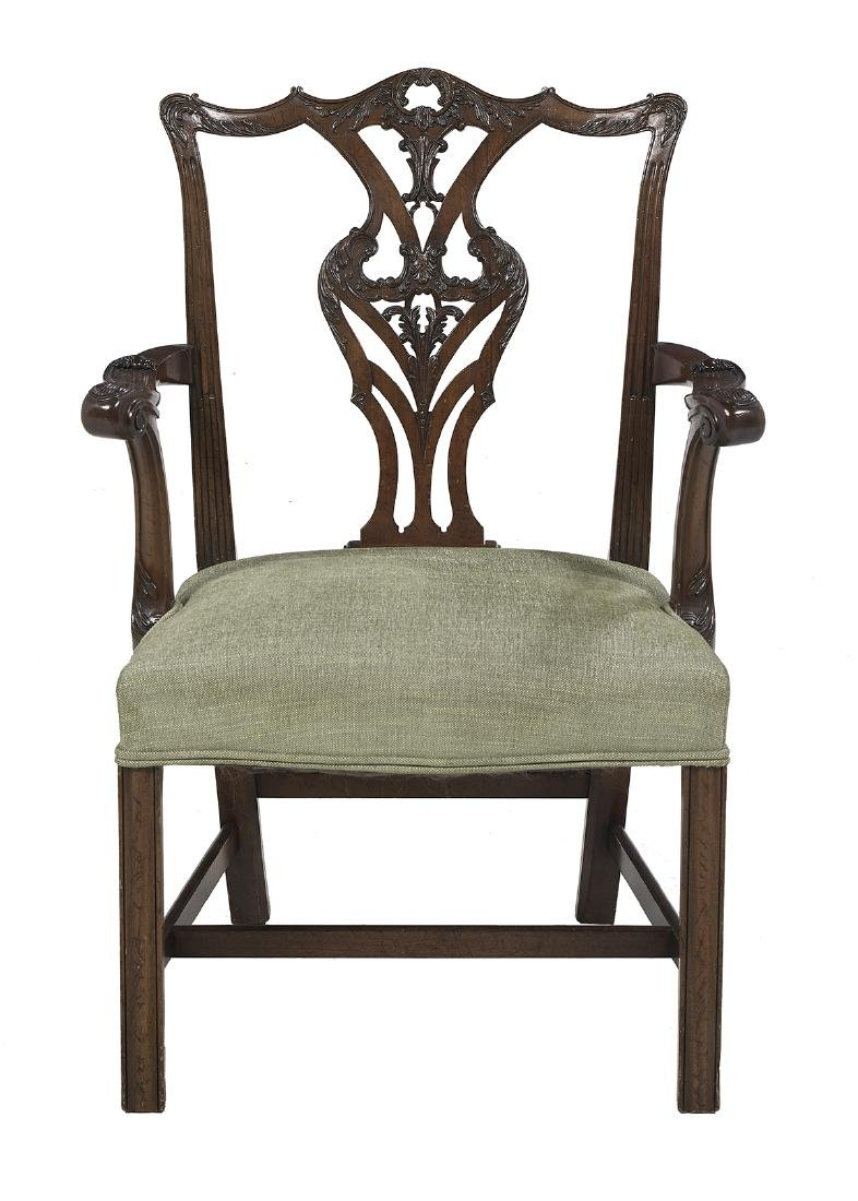 Eight George III-Style Mahogany Dining Chairs - 2