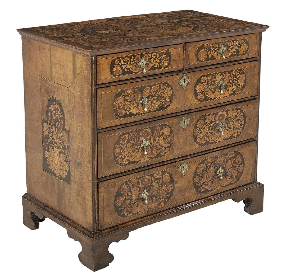 George III Mahogany and Exotic Woods Chest - 2