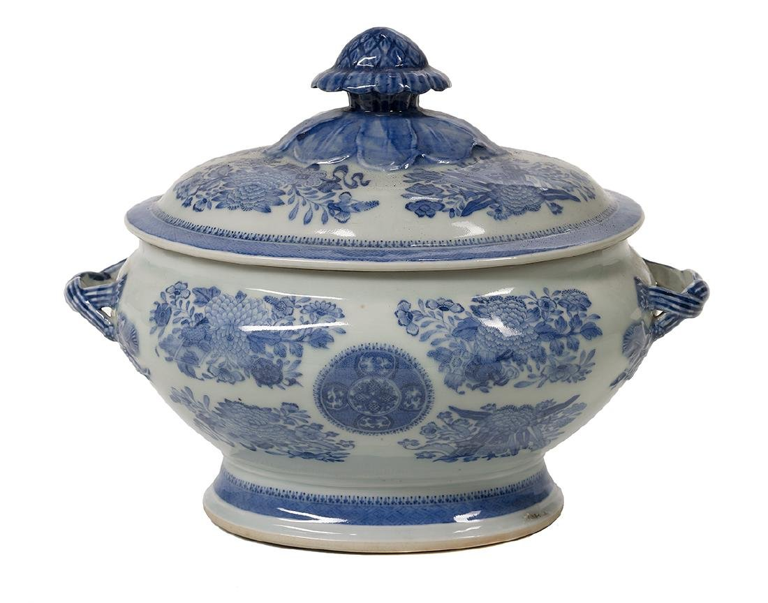 Chinese Export Fitzhugh Soup Tureen and Cover