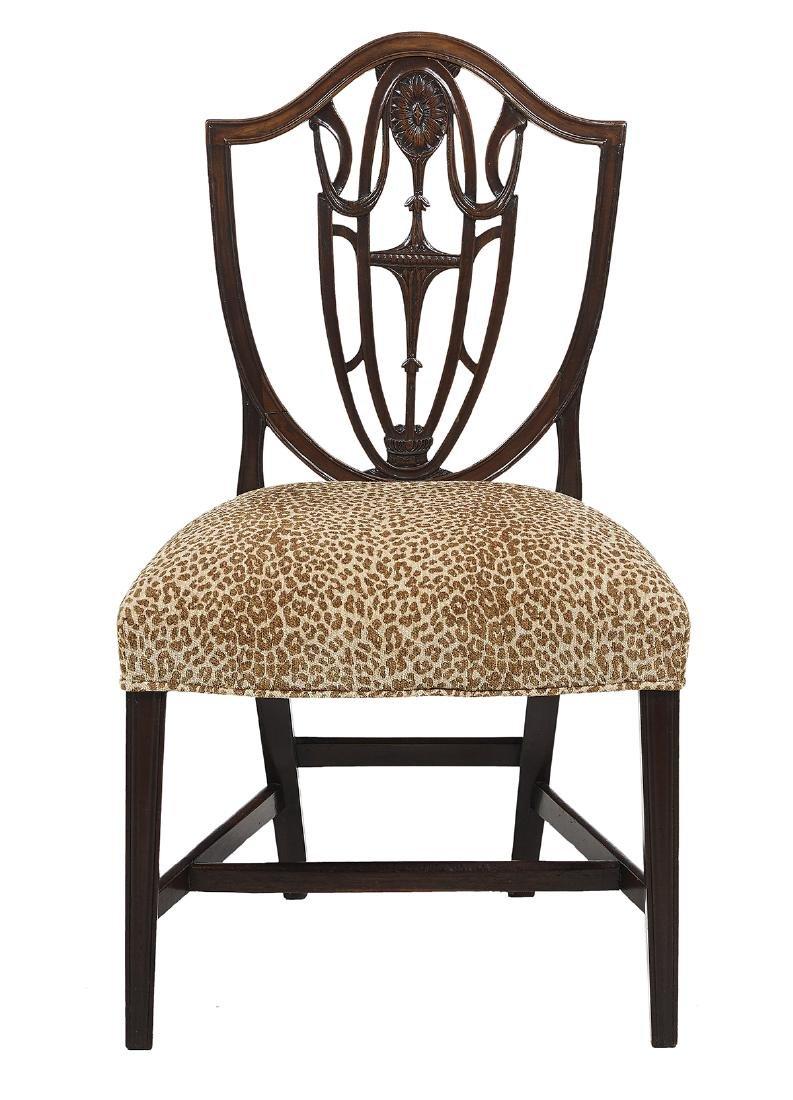 Eight George III Mahogany Dining Chairs - 2