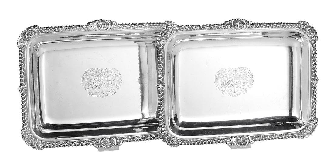 Pair of Paul Storr Sterling Vegetable Dishes