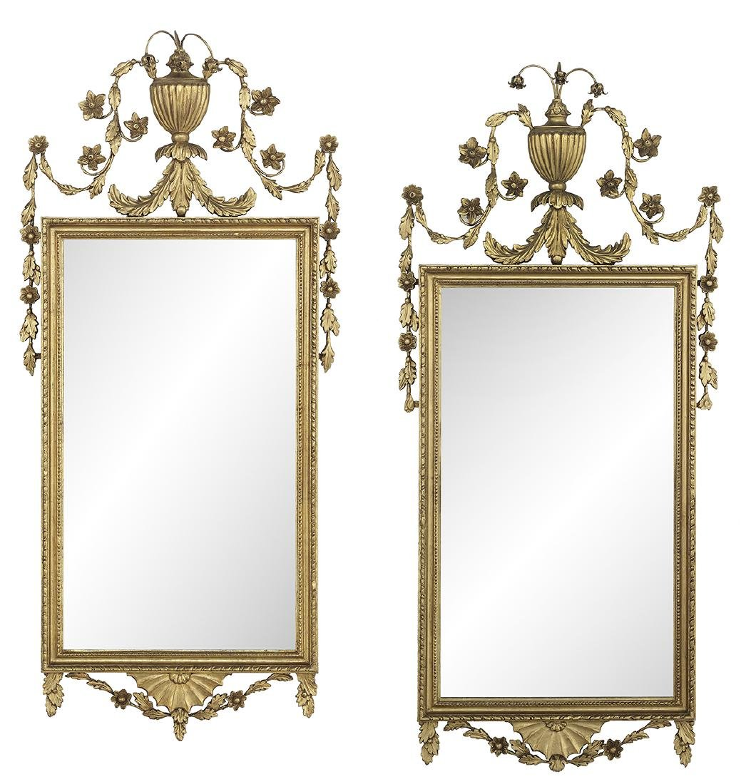 Pair of English Giltwood Mirrors