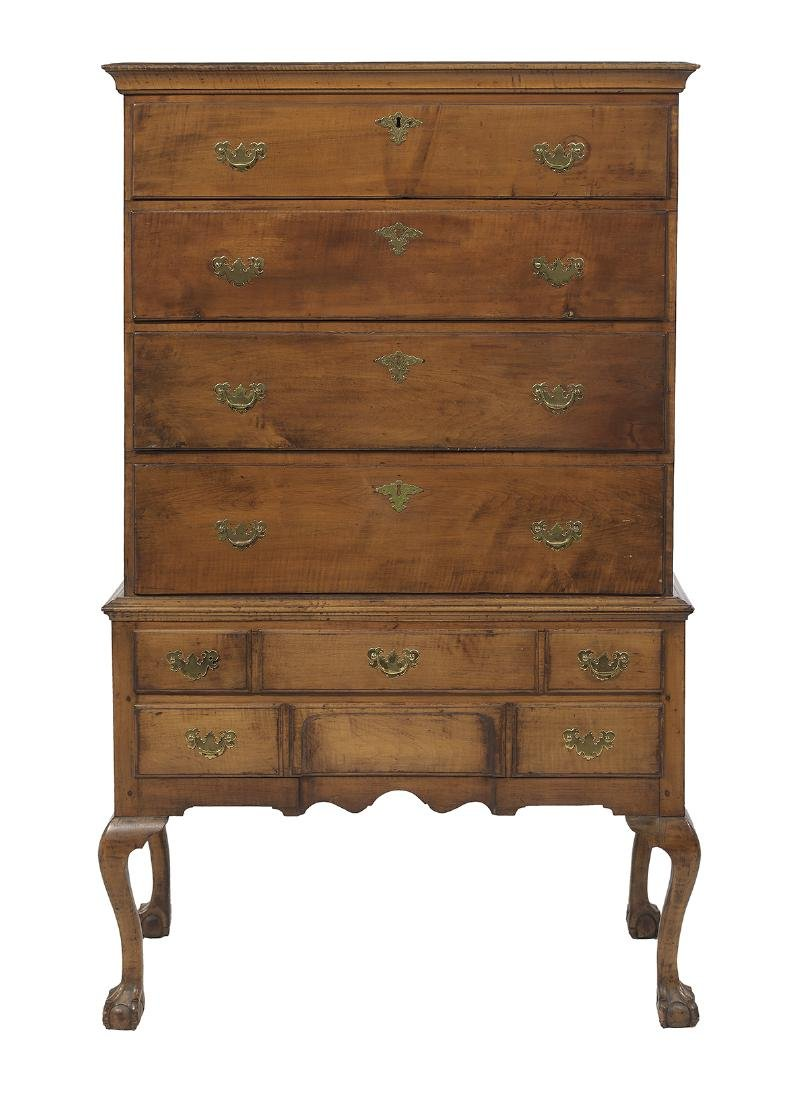 American Chippendale Maple High Chest