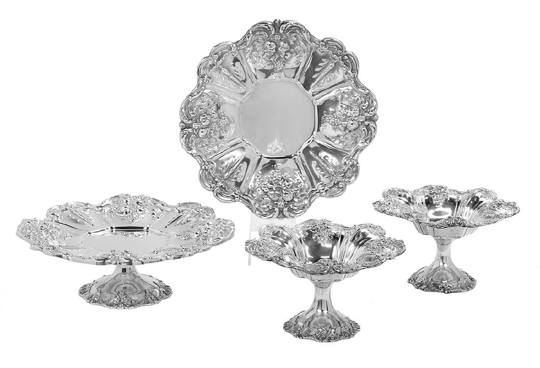 """Four Pieces of """"Francis I"""" Sterling Hollowware"""