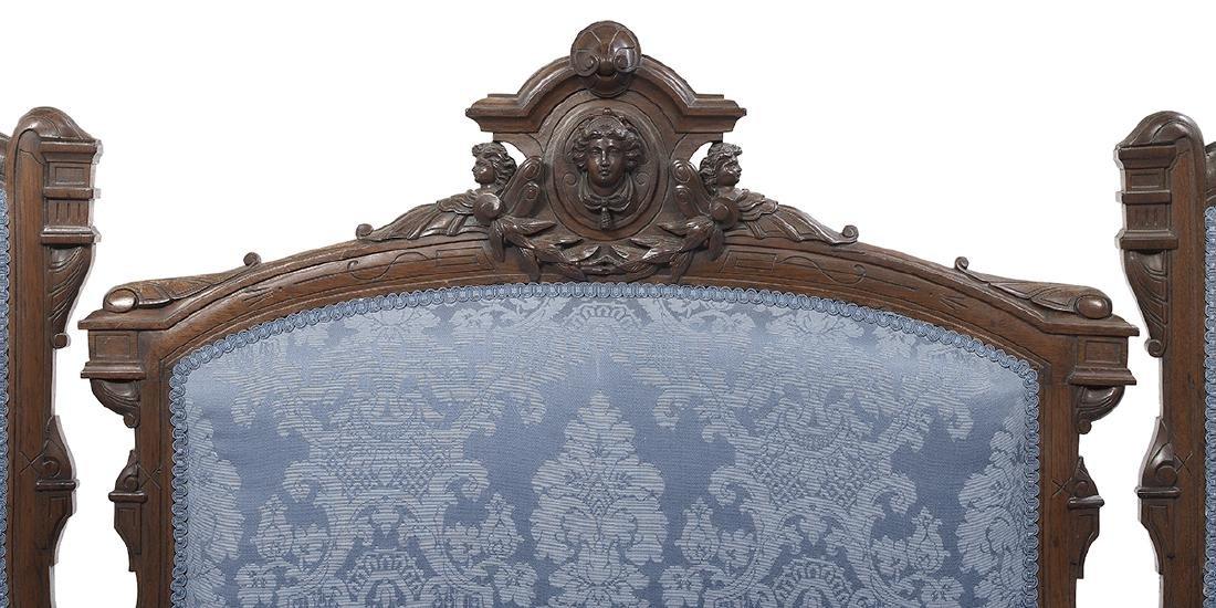 American Renaissance Revival Walnut Parlor Suite - 3