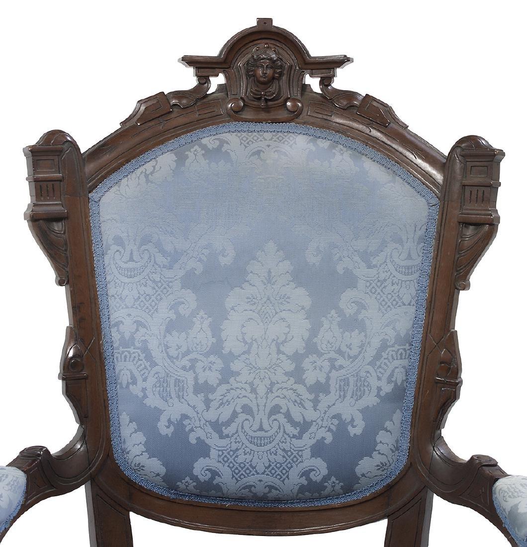 American Renaissance Revival Walnut Parlor Suite - 4