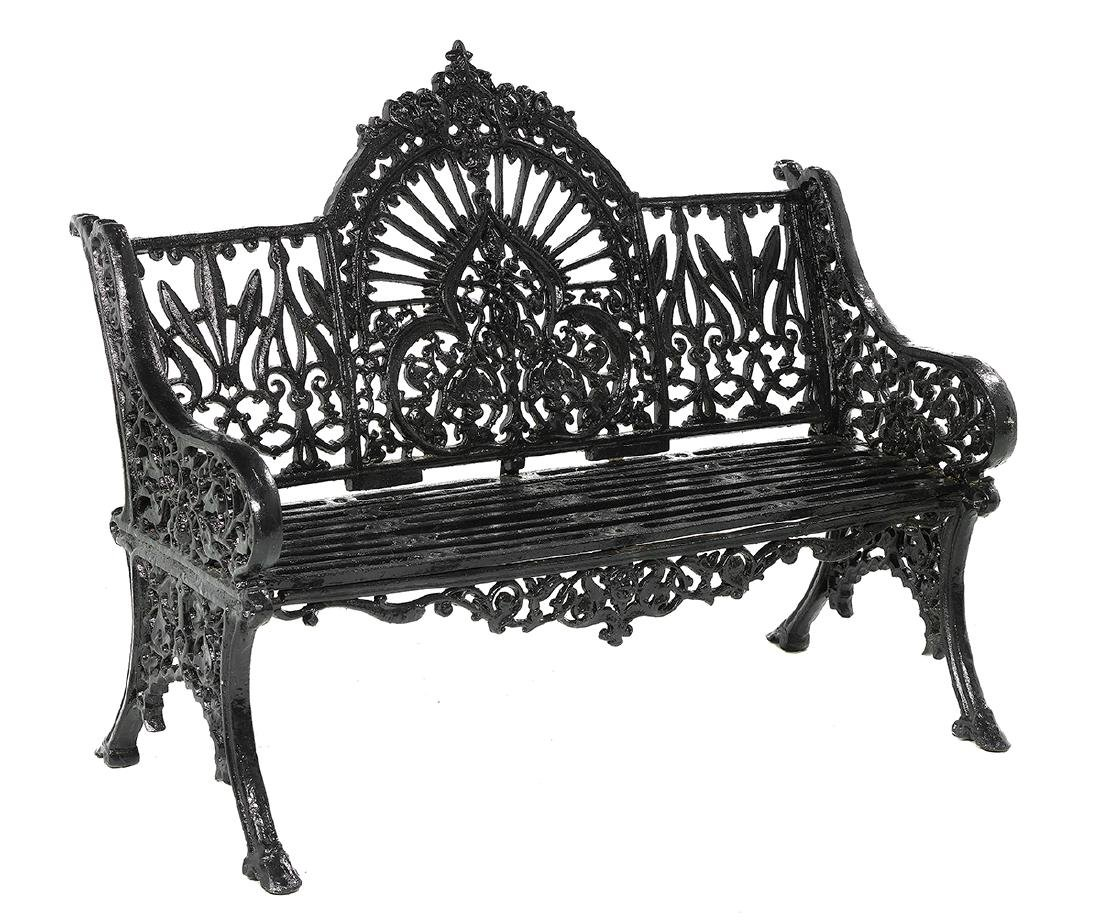 Pair of Victorian-Style Cast Iron Garden Benches - 2