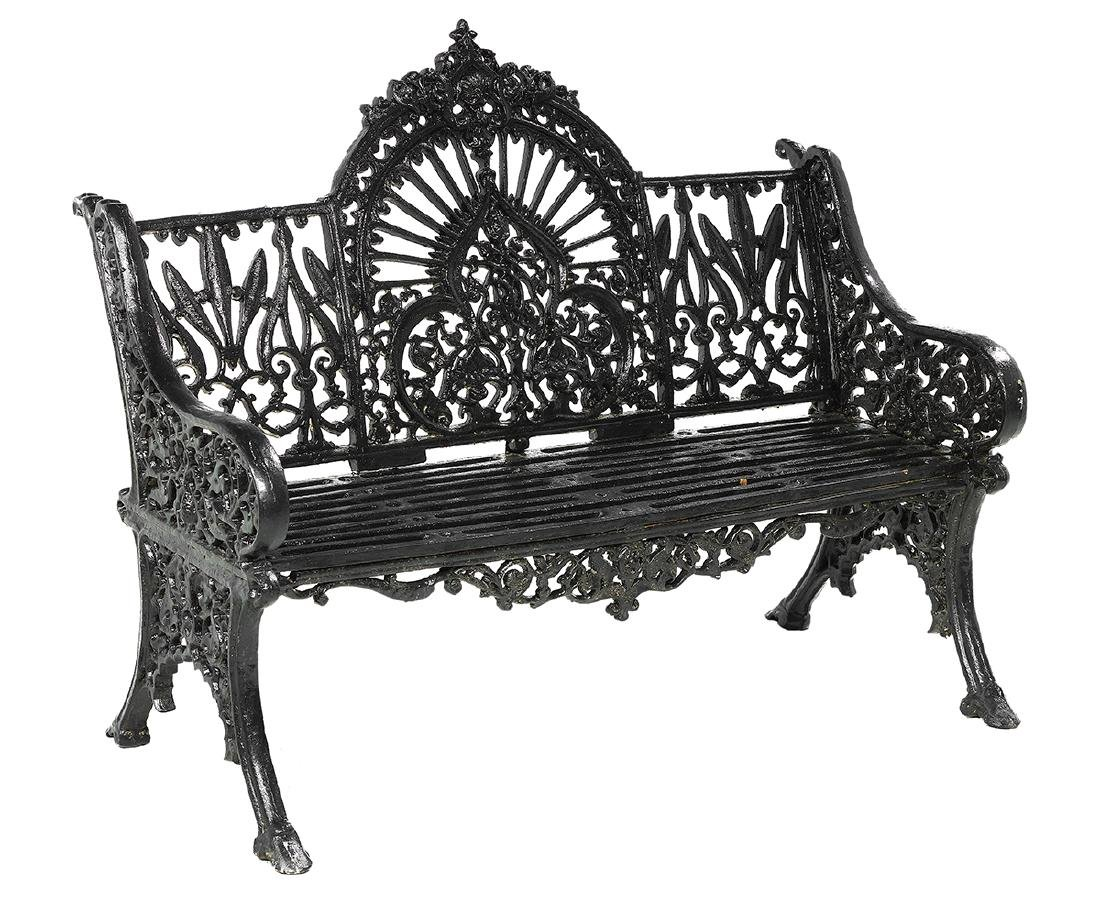 Pair of Victorian-Style Cast Iron Garden Benches - 3