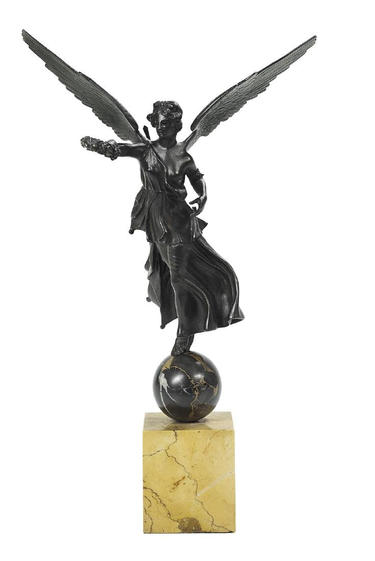 "French Patinated Bronze Figure of ""Victory"""