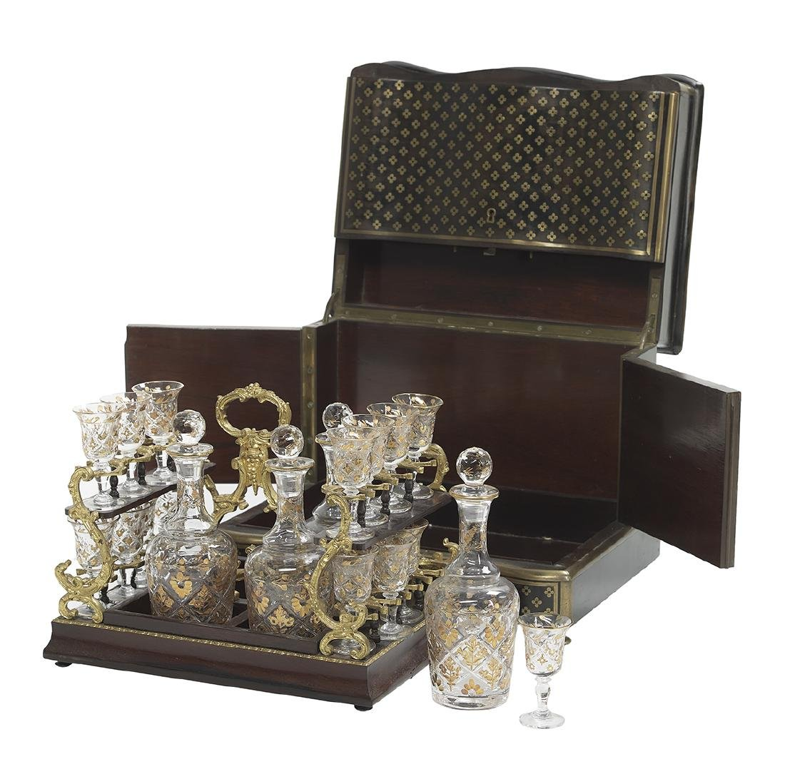 Napoleon III Boullework and Glass Cave a Liqueur