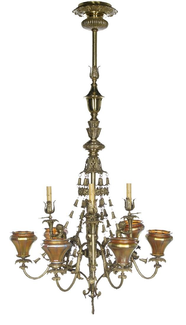 French Belle Epoque Gilt-Bronze Chandelier