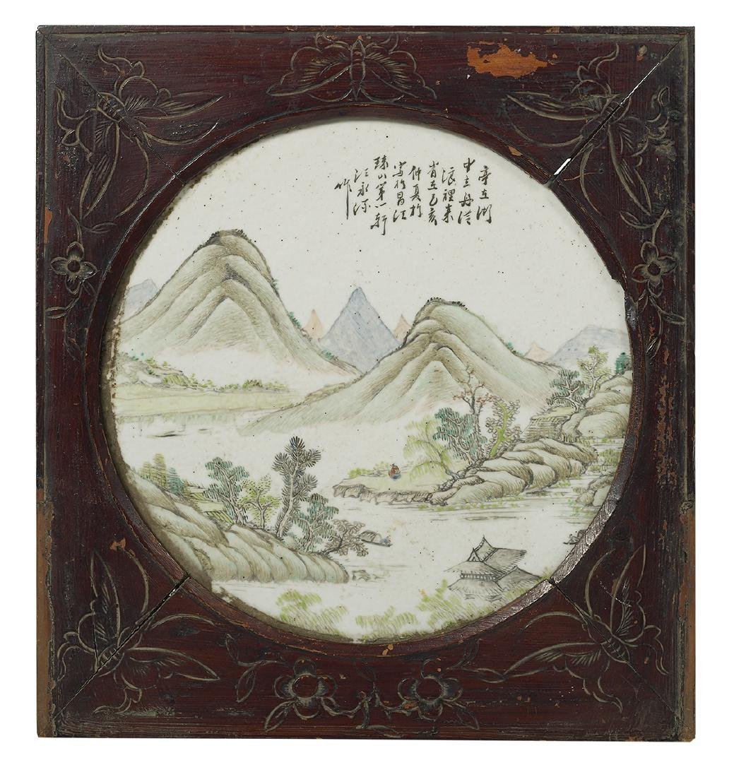 Chinese Famille Rose Porcelain Plaque