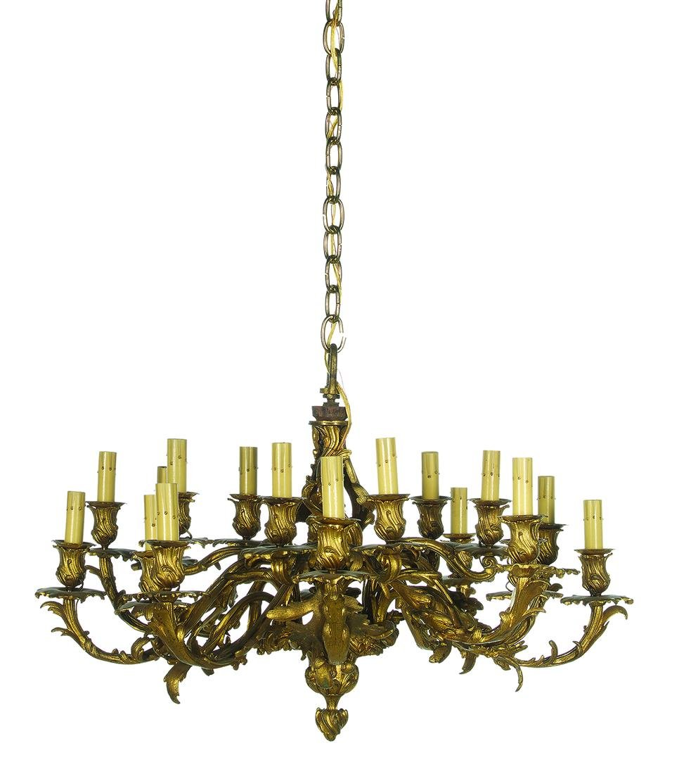 French Gilt-Bronze Chandelier in the Rococo Taste