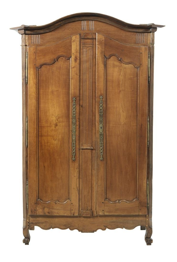 Provincial Louis XV-Style Fruitwood Armoire