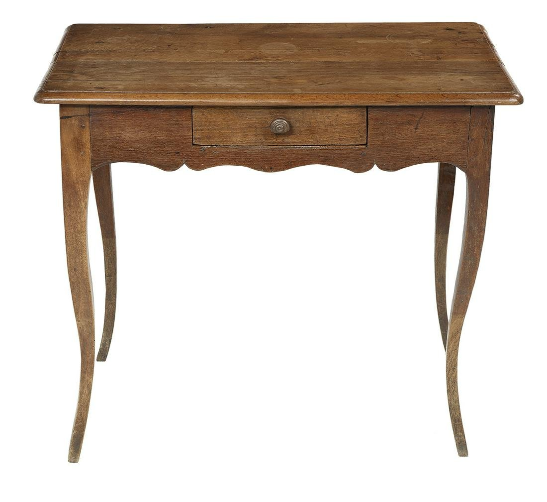Provincial Louis XV Oak Side Table