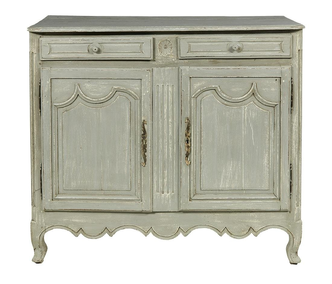 French Provincial Polychrome Buffet