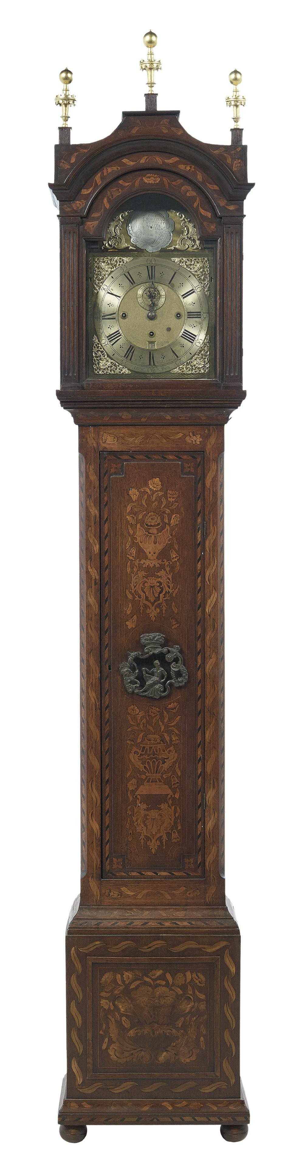Dutch Marquetry-Inlaid Musical Tall Case Clock
