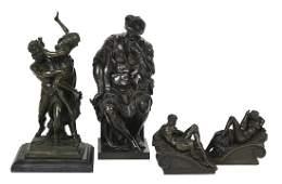4 Italian Patinated Bronze Grand Tour Souvenirs