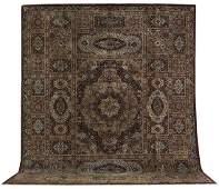 SemiAntique Part Silk Isfahan Carpet