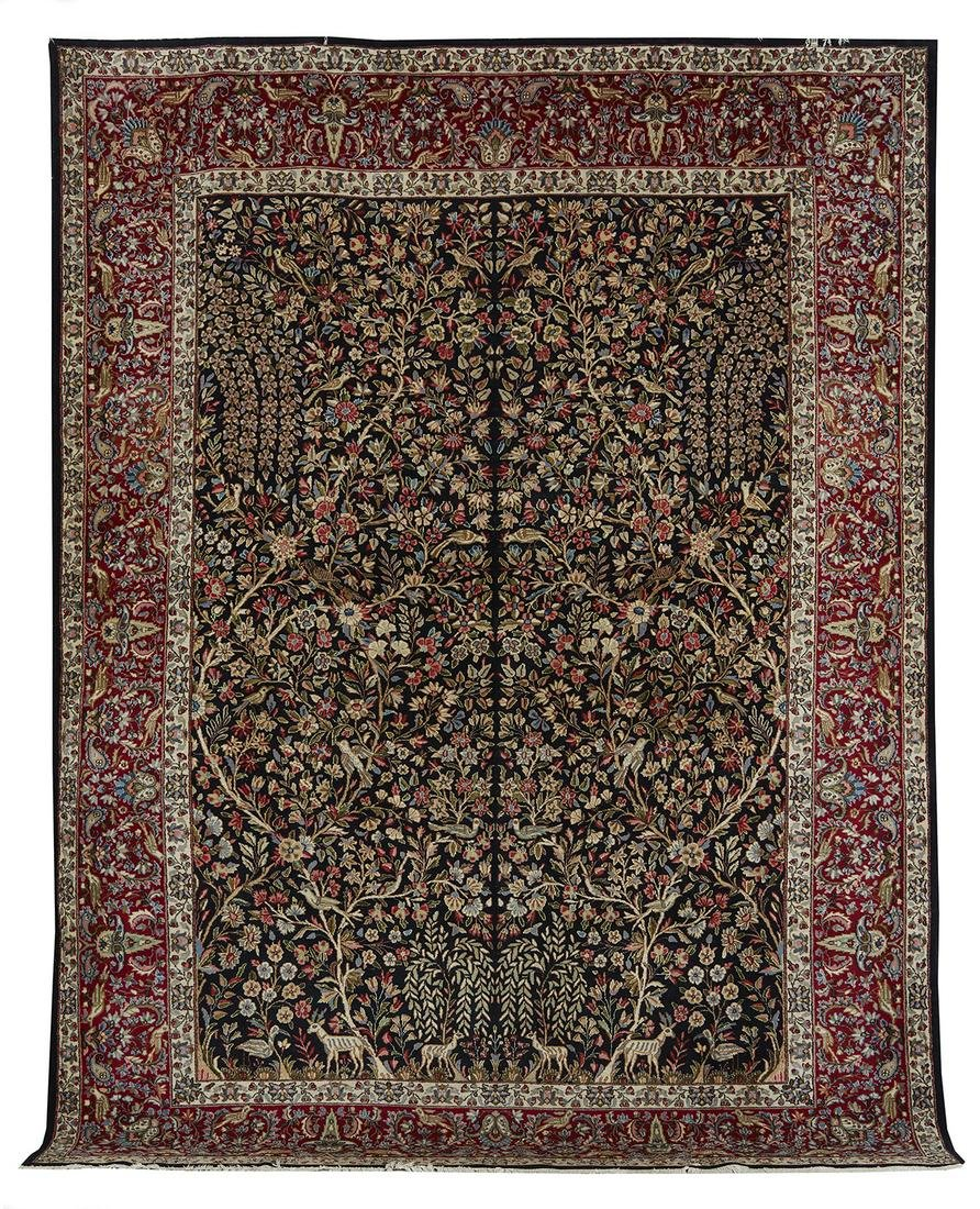 "Semi-Antique ""Tree of Life"" Tabriz Carpet"