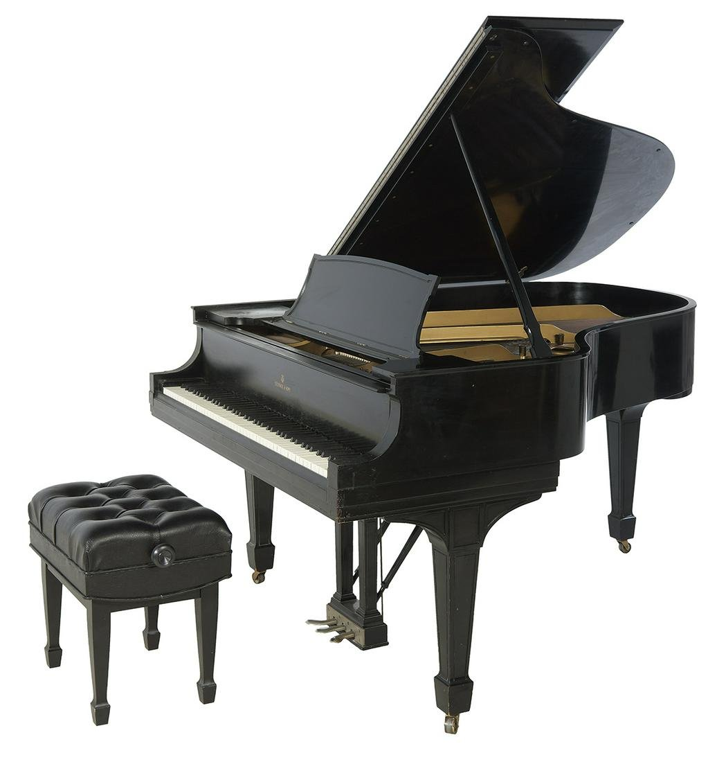 Steinway & Sons Model L Baby Grand Piano & Bench