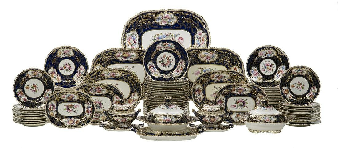 Partial Dinner Service, Attributed to Coalport