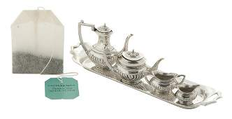 English Miniature Sterling Silver Tea Set