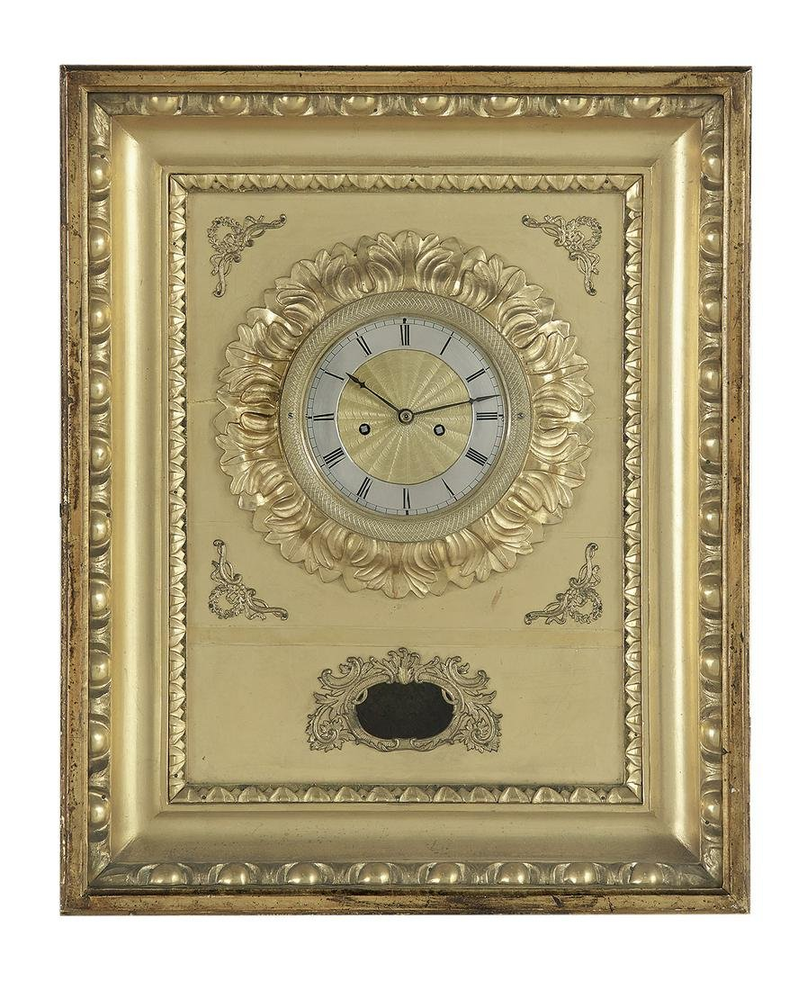 Continental Giltwood & Metal Picture Frame Clock