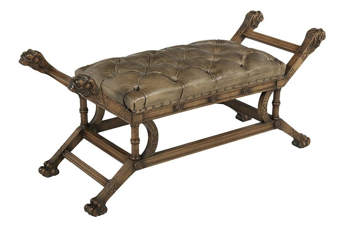 Victorian Mahogany Bench