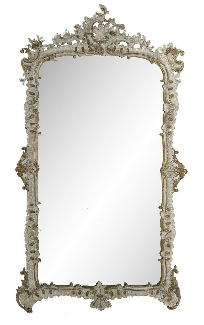 Italian Painted and Parcel-Gilt Mirror