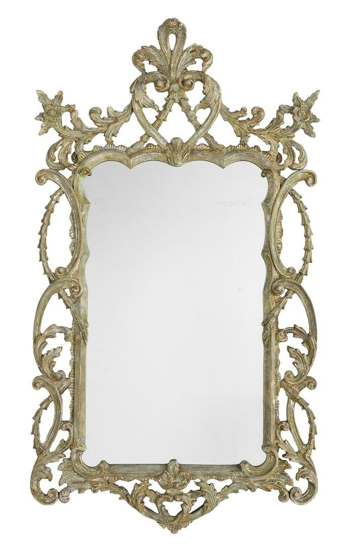 Carved and Painted Mirror in the Louis XV Taste