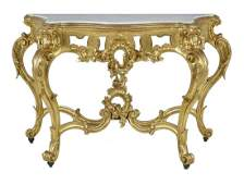Louis XVStyle MarbleTop Console Table