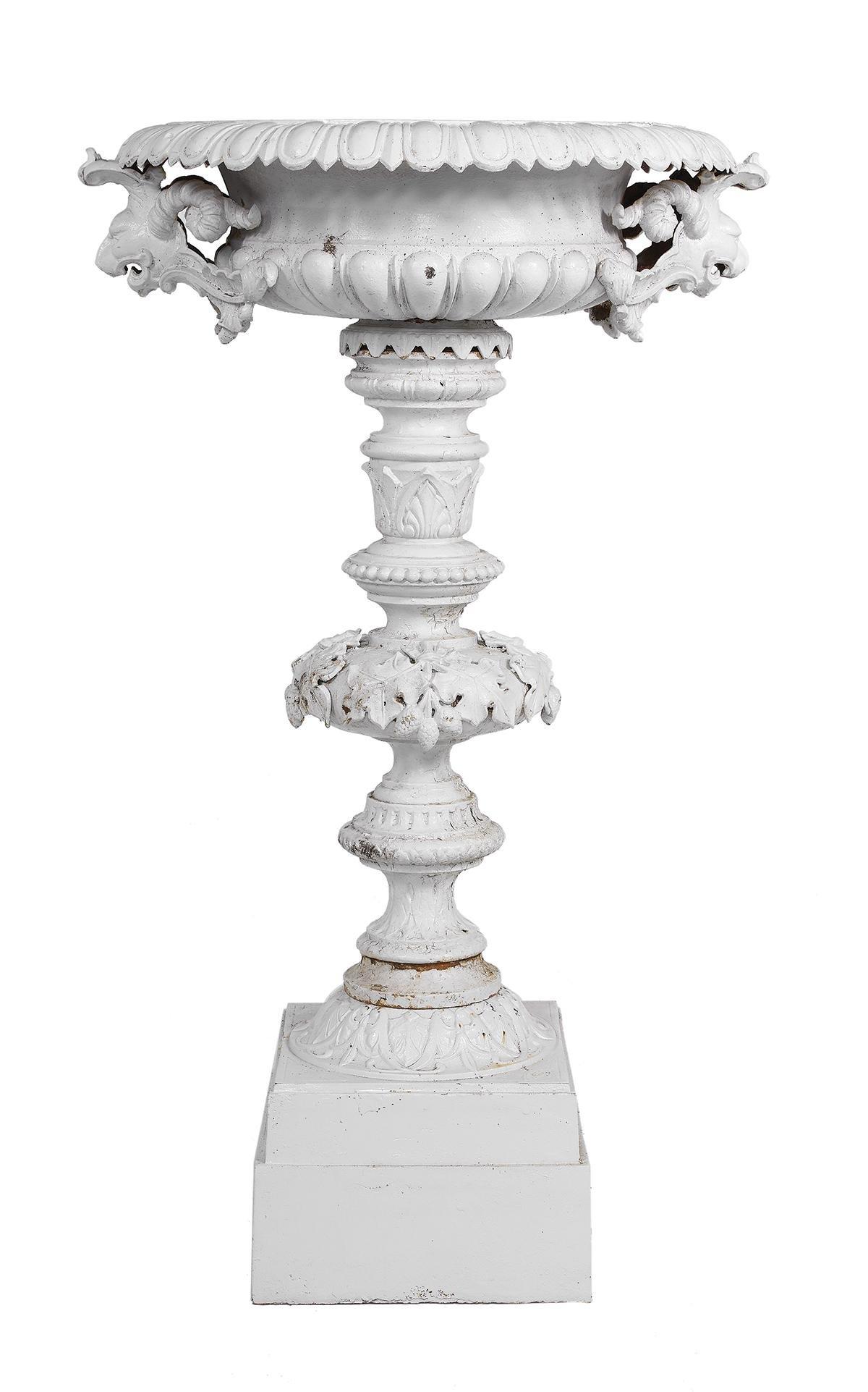 Monumental Labeled Fiske Cast Iron Garden Urn