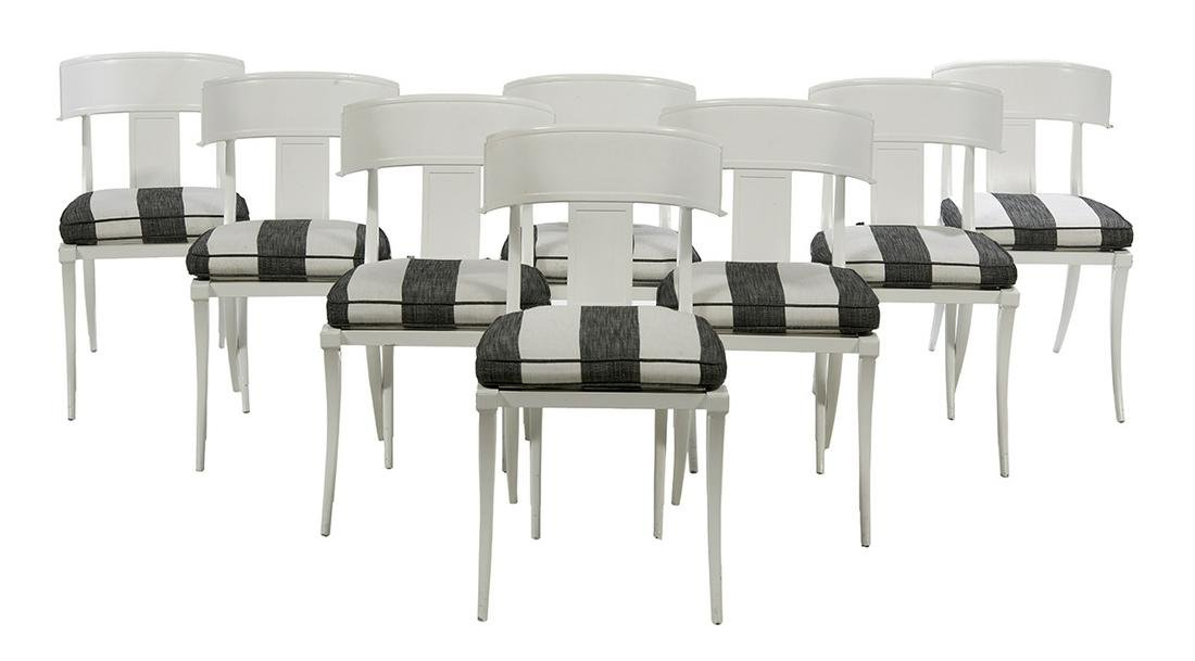 Suite of Eight Contemporary Klismos Chairs