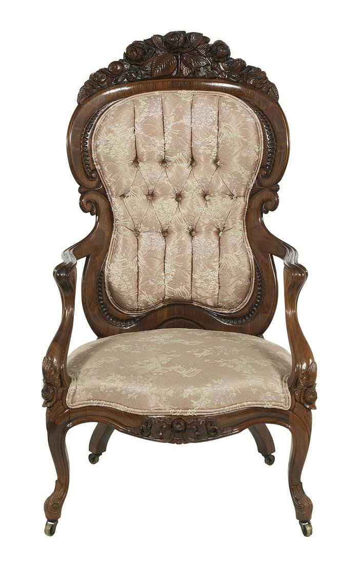 """American Rosewood """"Henry Clay"""" Armchair"""
