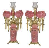Pair of Bohemian Candle Lamps