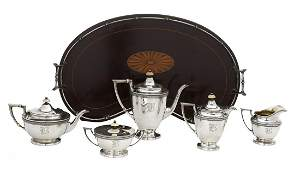 Six-Piece American Sterling Tea and Coffee Set