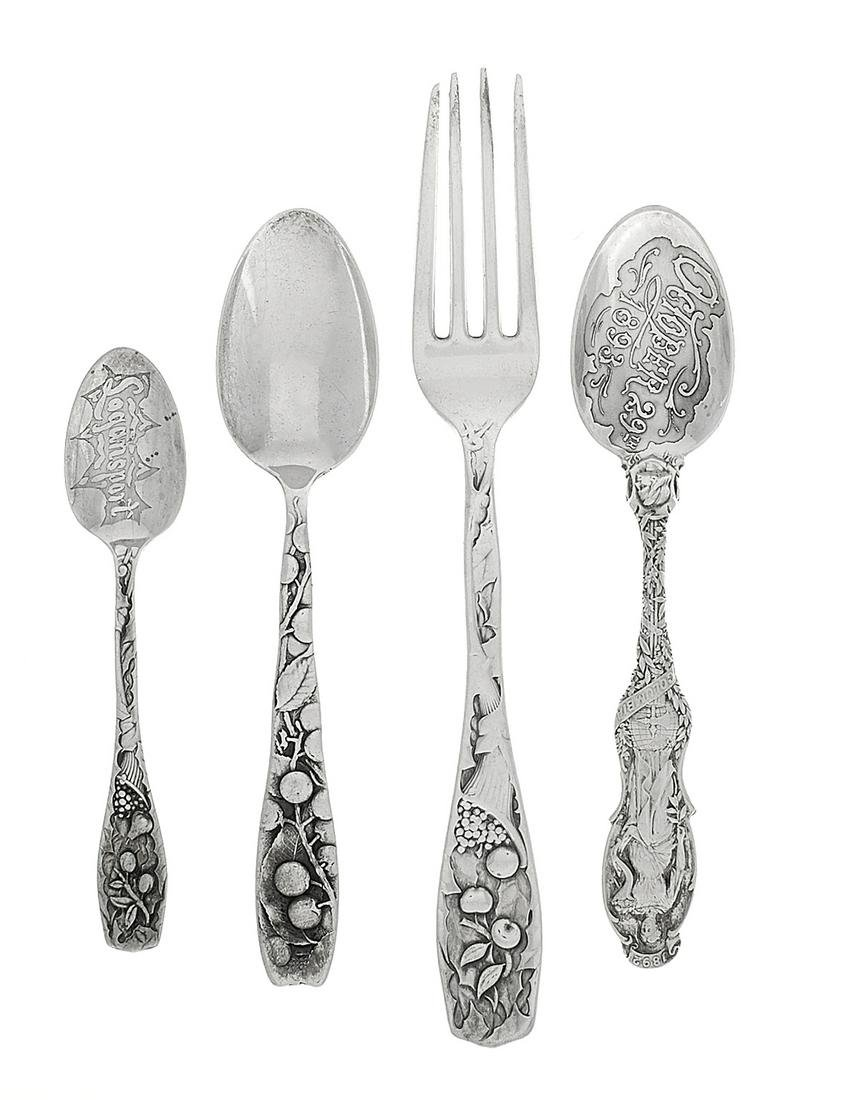 Four Pieces of American Sterling Silver Flatware