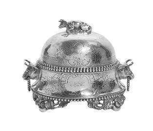 Alabama Silver Covered Butter Dish