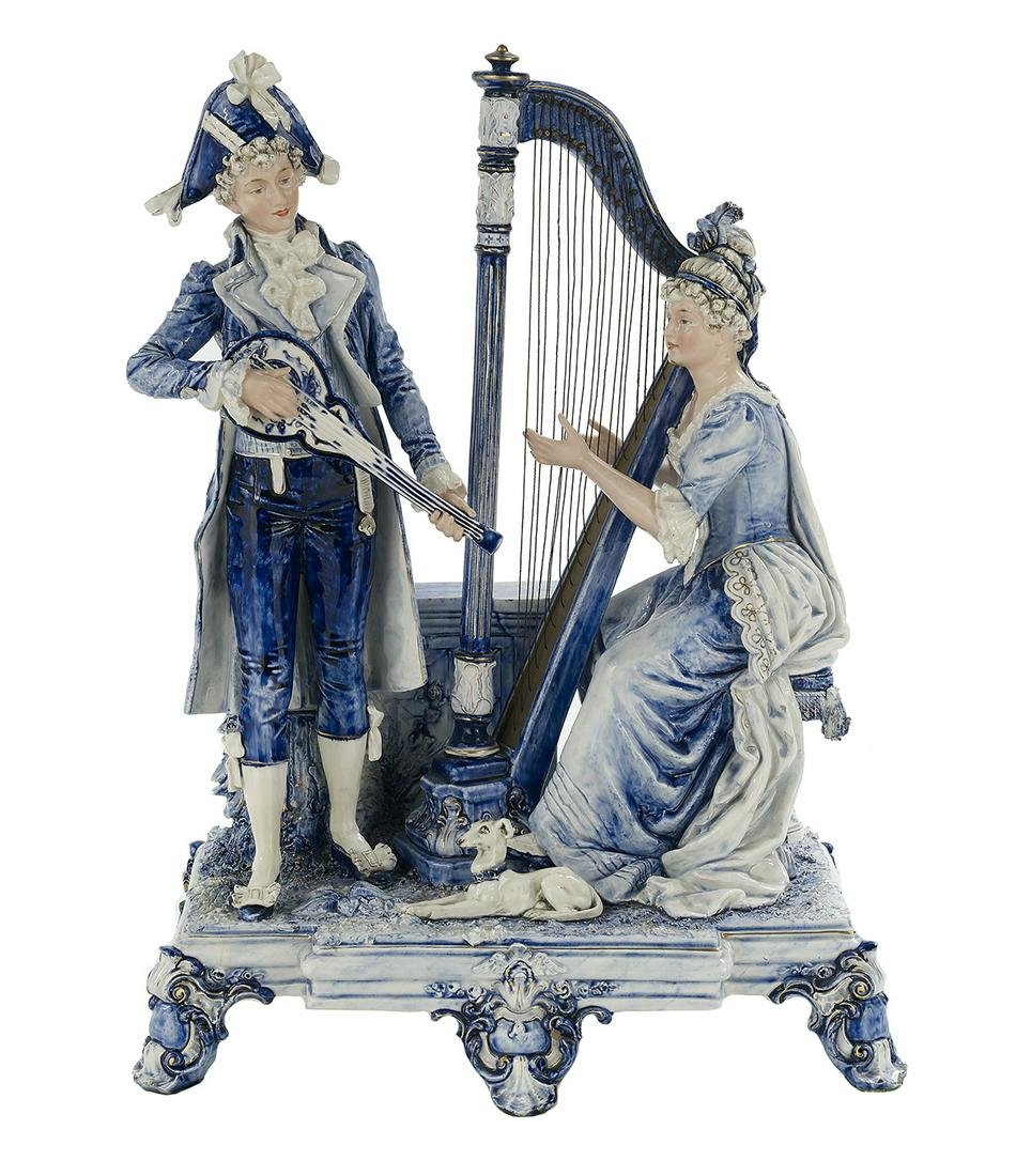 Majolica Figural Grouping of Musicians