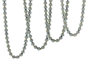 Four Hematite and Gold Necklaces