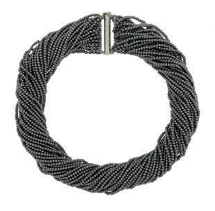 MultiStrand Hematite Necklace
