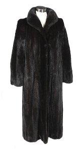 Dark Chocolate Brown Full-Length Mink Coat
