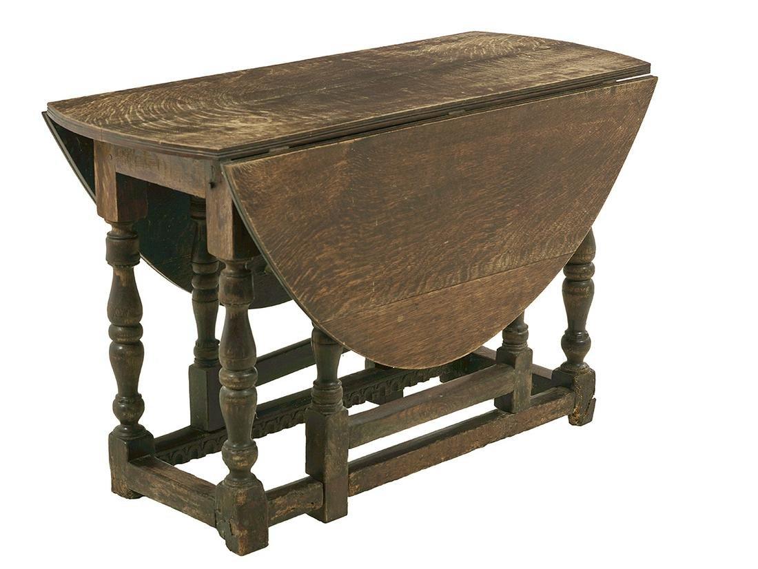 William and Mary Oak Gateleg Table