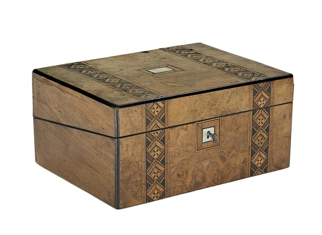 English Tunbridge Ware Writing Box