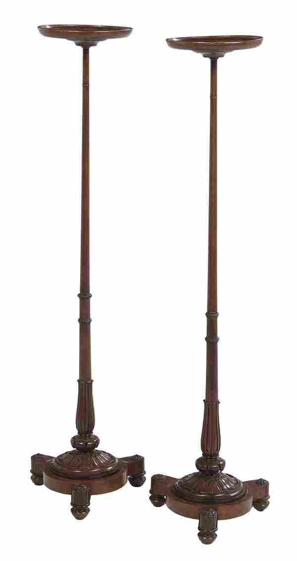 Pair of Regency Mahogany Pedestals