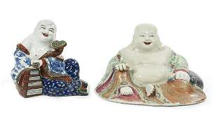 Two Chinese Porcelain Buddhas